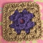 Afghan/Granny Square - Drink Coaster Or Starter Square - Crochet For Blanket