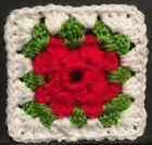 Christmas - Afghan/Granny Square Coaster OrStarter Square Crochet For Blankets