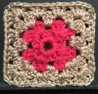 Afghan/Granny Drink Coaster Or Starter Square Crochet For Blanket 8.5cm Square