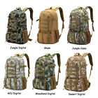 50L Outdoor Travel Hiking Camping Sports Backpacks Waterproof Daypack Nylon Bags