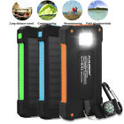 Solar Charger Power Bank 10000mAh Compact Dual USB Battery Charger for Phone