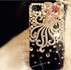 New Lovely 3D Pink Octopus Bling Crystals Rhinestones Hard Case For Mobile Phone