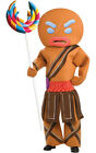 LICENSED ADULT MENS SHREK GINGERBREAD MAN WARRIOR FANCY DRESS HALLOWEEN COSTUME