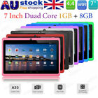 7'' Google Android 4.4 Bluetooth Tablet PC Duad Core 1GB+8GB Dual Camera Gift