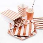 Rose Gold Theme Party Tableware Set Paper Favor Kids Birthda