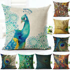 "18"" Nordic Peacock Pillow Case Sofa Bedroom Home Decor Throw Linen Cushion Cover"