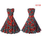 Womens 50S 60S ROCKABILLY DRESS Vintage Swing Pinup Retro Housewife Prom Party