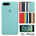 Luxury Original Silicone Case For Apple iPhone X 8 7 6s 6 Plus Genuine Cover
