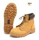 Grafters Mens Leather Safety Boots Steel Toe Capped Newbuck Honey Size UK6 - 16