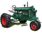 Huber Model LC tractor canvas art print by Richard Browne -  Marion Ohio