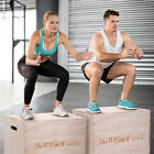 Wood Plyo Box 3 in 1 Plyo box Plyometric Box Exercise Training Plyometric Jump