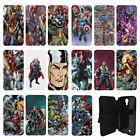 DC Marvel superhero comic book Flip Wallet cover case for Samsung Galaxy No.14