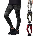 US STOCK Ladies Camo Camouflage Full Length Leggings Army Print Stretch Trousers