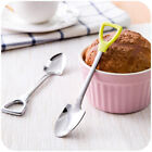 Stainless Steel Shovel Shape Spoon Fork Long Handle Coffee Ice Cream Soup Kids