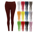 NEW WOMENS LADIES SKINNY FIT COLOURED STRETCH JEANS JEGGINGS PLUS SIZES 8-20