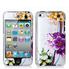 Purple Flower 2d Hard Snap-on Crystal Skin Case Cover Accessory for Ipod Touc...