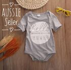 Newborn Baby Boy Girl Bodysuit Short Sleeve Cute