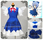 Touhou Project Cirno Cosplay Costume!s'd