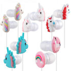 Candy Color Unicorn 3.5mm Stereo Earphone With Microphone Earbud For Cell Phone