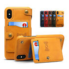 Wallet Leather Magnetic Removable Flip Stand Card Slot Case Fr iPhone X 7/8 Plus