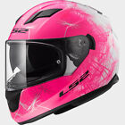 LS2 Stream Wind Women's White/Pink Full Face Motorcycle H...
