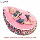 Multicolors Baby Beanbag Pouf Portable Baby Chair Folding Harness Safety Belt Fi