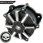 Deep Cut Air Cleaner Intake Filter For Harley Street Glide Road King FLHR 08-16