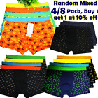 4/8 Pack Men Boxer Briefs Underwear Knocker Shorts Pouch Trunk Flex Waistband