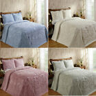 "Tufted Chenille Bedspread 100% COTTON Soft Elegant Ashton Coverlet Hem 110"" image"