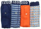 IZOD Mens Button Fly Cotton Tag Free Boxer Shorts Underwear, 4 Pack