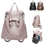 Convertible Faux Leather Backpack Rucksack Daypack Shoulder Bag Purse Anti-Theft