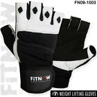 Weight Lifting Gloves Fitness Body Building Gym Training Long Wrist Supports