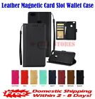 Leather Magnetic Card Slot Wallet Flip Cover Stand Case for LG Stylo 2 3 Q Plus