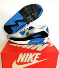 New Mens Nike Air Max 90 White Grey Black Blue Sizes Trainers Shoes