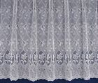 Zoe Tulip Lace Net Curtaining White - Sold by the Metre -  FREE POST!