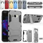 TPU Tri Layer Slim Defender With Kickstand Case Cover For Samsung Galaxy S8 GRAY