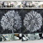 Black & white flower pictures with liquid art, crystals & mirror frames