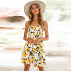 UK Women Strapless Floral Backless Sundress Ladies Summer Beach Mini Swing Dress <br/> ❤ 2018 BRAND NEW STYLE ❤ PLUS SIZE UK 6-20❤ 32 Styles❤