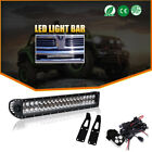 "22"" LED Light Bar+Hidden Bumper+Wiring Kit Fit For 2010-2017 Dodge Ram 2500/3500"