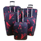 'Ariana Lightweight Tulips Flower Luggage Set Suitcase Travel Cabin Bag - Rt34
