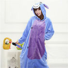Adult Cartoon Cosplay Sleepwear Unisex Hooded Unicorn Cow Pyjamas Animal Costume