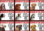 Beware Of The Dog Sign Gate in 3 Seconds Various Breeds set4