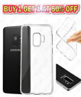 Silicone Clear TPU Cover Gel Case For Apple iPhone X Samsung Galaxy S9 S9+ Plus