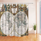 Royal Old World Map 71 Inch Bathroom Waterproof Fabric Shower Curtain 12 Hooks