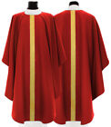 Red Gothic Chasuble with stole G056-C Vestment Rouge Casulla Roja Casula Rossa