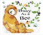 Busy As A Bee Yellow Gold Tabby Kitty Cat Watercolor Art Print Made in USA