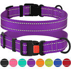 Reflective Dog Collar Safety Nylon Collars for Dogs Puppy with Buckle S M L