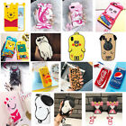Shockproof Cute 3D Animal Cartoon Case For iPhone X 8 7 6 6s Plus 5 5s SE Gift