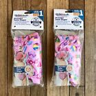 Lot of 2 Swim School Baby Girls Pool Diapers Sz 6M Reusable UPF 50 Pink 10-18lb