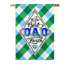 "Best Dad on Earth - 28"" x 40"" Impressions House Flag - H137059"